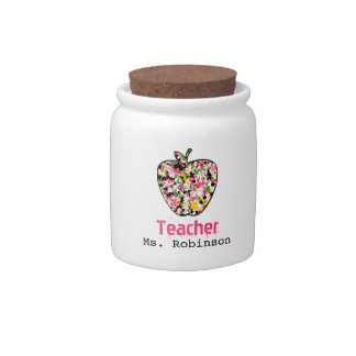 Paint Splatter Apple Teacher Candy Jar