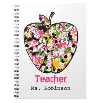 Paint Splatter Apple Teacher Notebook