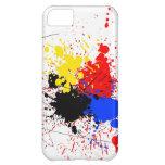Paint Splatter Art Black Blue Red Yellow iPhone 5C Case