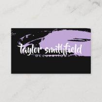 paint splatter artist modern business card