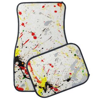 Paint Splatter Background (1) Car Mat