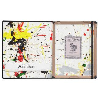 Paint Splatter Background (1) iPad Folio Cases
