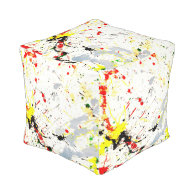 Paint Splatter Background (1) Cube Pouf