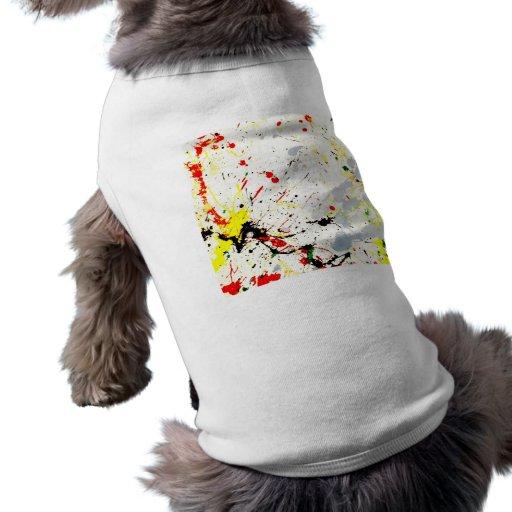 Paint Splatter Background (1) Doggie Tshirt