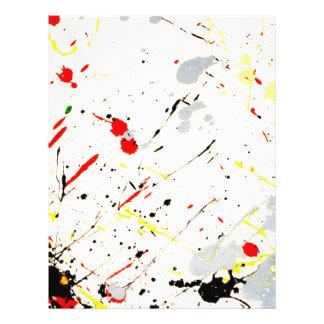 "Paint Splatter Background (1) 8.5"" X 11"" Flyer"
