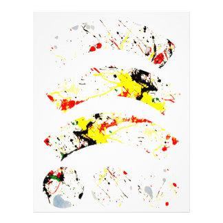 Paint Splatter Background (1) Letterhead