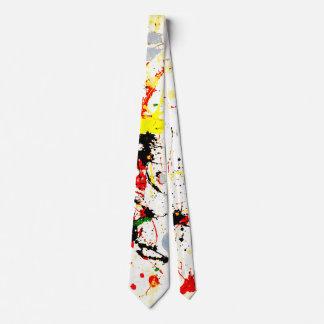 Paint Splatter Background (1) Neck Tie