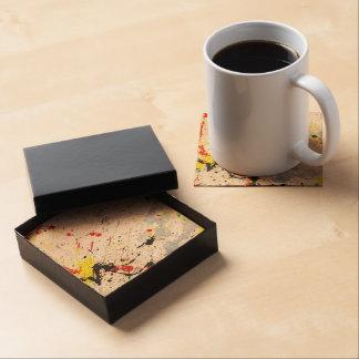 Paint Splatter Background (1) Drink Coaster