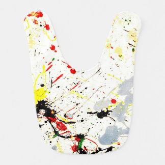 Paint Splatter Background (1) Baby Bibs