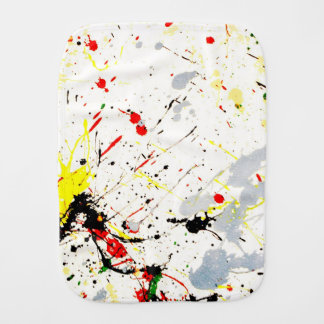 Paint Splatter Background 1 Burp Cloths