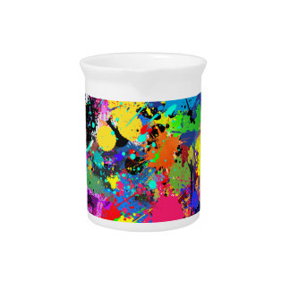 Paint Splatter Beverage Pitcher