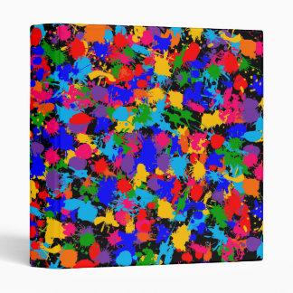 Paint Splatter Vinyl Binder