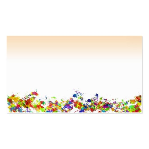 Paint Splatter Border Business Cards