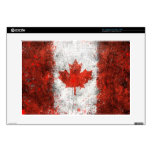 "Paint Splatter Canadian Flag Decal For 15"" Laptop"