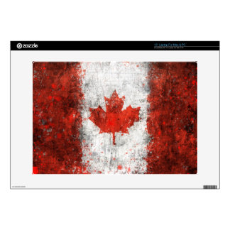Paint Splatter Canadian Flag Skin For Laptop