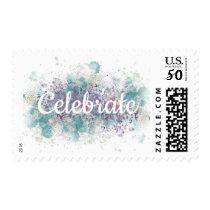Paint Splatter Celebrate Postage