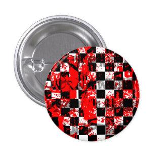 Paint Splatter Checkerboard Graphic Button