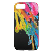paint splatter color colors class brush stroke pap iPhone 7 case
