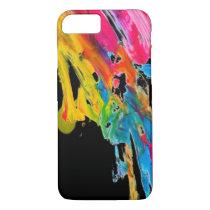 paint splatter color colors class brush stroke pap iPhone 7 case