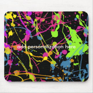 Paint Splatter Cool Art Artist Painter Mouse Pad