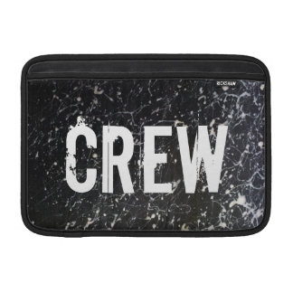 Paint Splatter CREW   Charcoal and White MacBook Air Sleeves