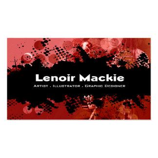 Paint Splatter custom designer business card