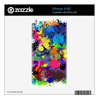 Paint Splatter Decals For The iPhone 4S