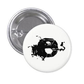Paint splatter E Pinback Button