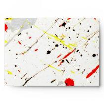 Paint Splatter Envelope