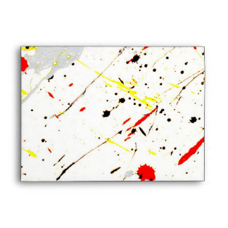 Paint Splatter Envelope