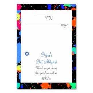 Paint Splatter, Faux Neon, Custom Place Cards