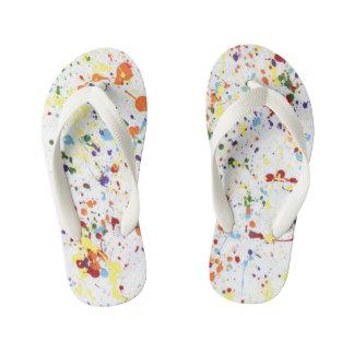 """Paint Splatter"" Flip Flops"