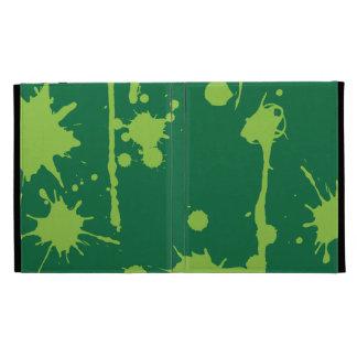 Paint Splatter green iPad Folio Cases