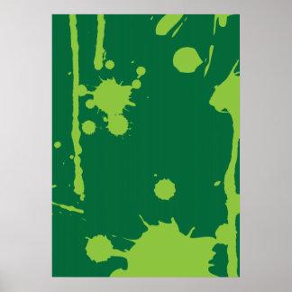 Paint Splatter green Poster