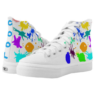 Paint Splatter High Top Shoes Printed Shoes