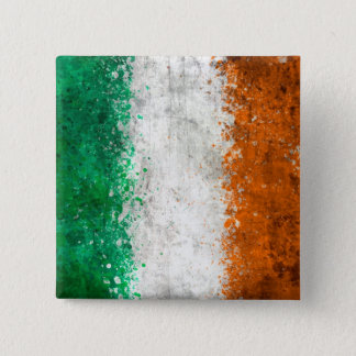 Paint Splatter Irish Flag Button