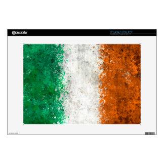 Paint Splatter Irish Flag Laptop Decal