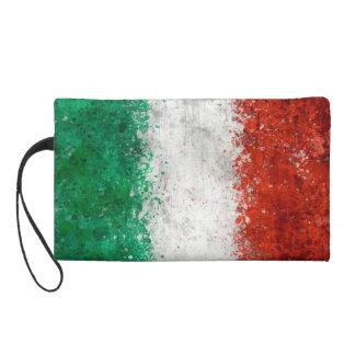 Paint Splatter Italian Flag Wristlet Purse
