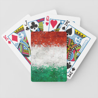 Paint Splatter Italian Flag Bicycle Playing Cards