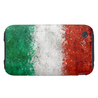 Paint Splatter Italian Flag iPhone 3 Tough Cover