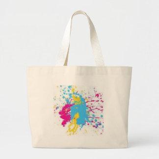 paint splatter jumbo tote bag