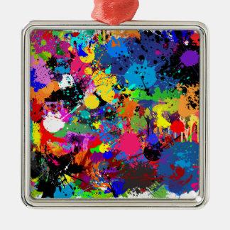 Paint Splatter Metal Ornament