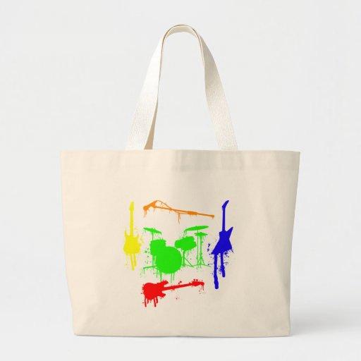 Paint Splatter Musical instruments Band Graffiti Bags
