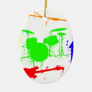 Paint Splatter Musical instruments Band Graffiti Ceramic Ornament
