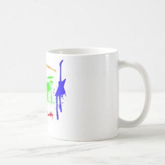 Paint Splatter Musical instruments Band Graffiti Coffee Mug