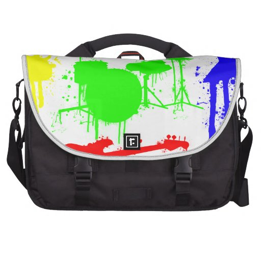Paint Splatter Musical instruments Band Graffiti Laptop Bag
