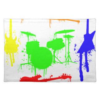 Paint Splatter Musical instruments Band Graffiti Placemat