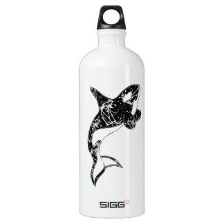 Paint Splatter Orca Art Aluminum Water Bottle