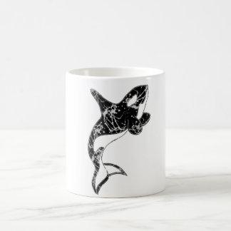 Paint Splatter Orca Art Classic White Coffee Mug