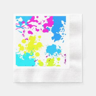 Paint Splatter, Paint Ball, Neon Paper Napkins